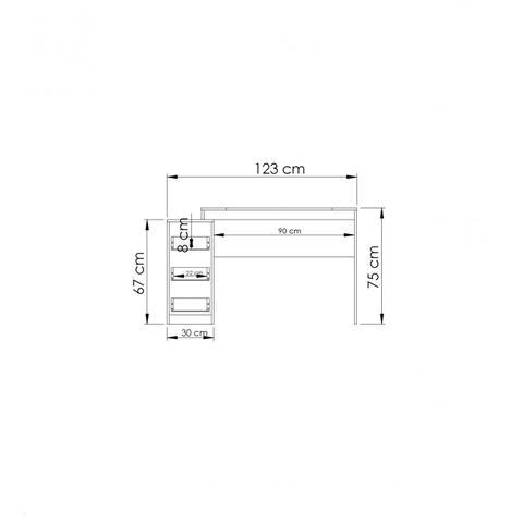 Imagem de Conjunto Home Office com Escrivaninha e Estante para Livros  Móveis Branco TX/Branco TX