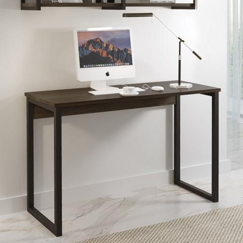 Imagem de Conjunto Home Office Escrivaninha e Prateleira Industrial em Aço e BP Yescasa Café/Mocaccino