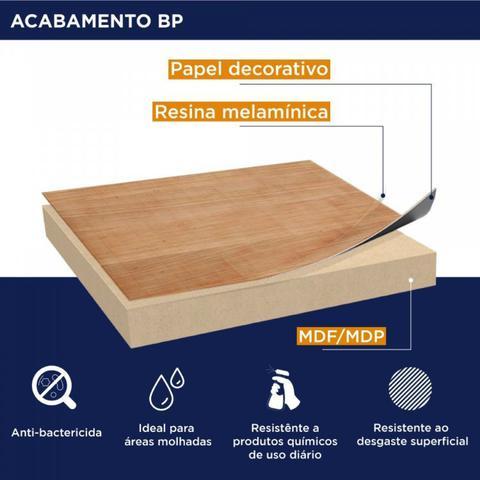 Imagem de Conjunto Home Office Escrivaninha e Prateleira Industrial em Aço e BP Yescasa Grafite/Mocaccino