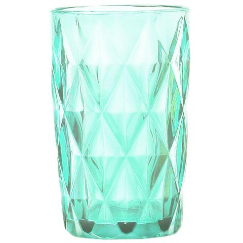 Imagem de Conjunto Jarra de Vidro 1125ml com 6 Copos Diamond Verde
