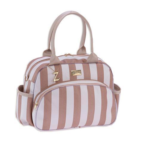 Imagem de Conjunto Kit Bolsa Maternidade Unissex Luxo Elegance Bege 05 Peças
