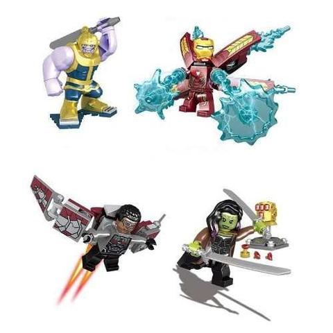 Imagem de Conjunto Lego Vingadores Guerra Infinita - 8 Pcs Thanos + Manopla