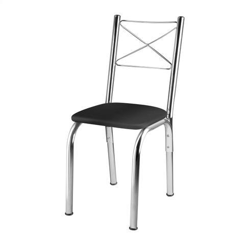 Imagem de Conjunto Mesa 4 Cadeiras Amarok Brastubo Incolor / Preto