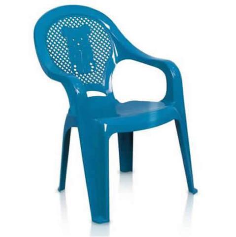 Imagem de Conjunto Mesa E 4 Cadeiras Poltrona Infantil Decorada Azul