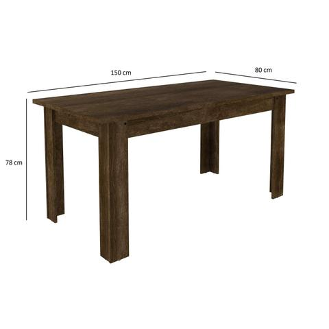 Imagem de Conjunto Mesa Primus com 6 Cadeiras Capri Siena Móveis Rústico