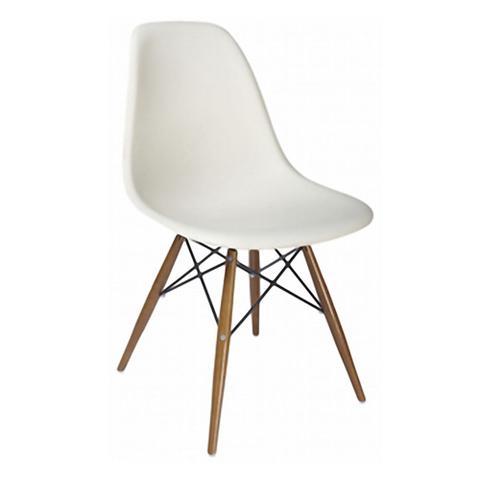 Imagem de Conjunto Mesa Square Redonda Branco Fosco 88cm com 4 Cadeiras Eiffel  Branca
