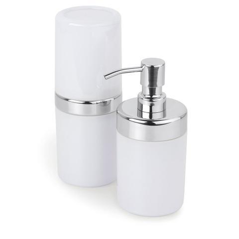 Imagem de Conjunto p/ Banheiro Duo Lavabo 2 pcs Acquaset Branco Forma