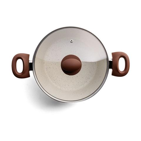 Imagem de Conjunto Panelas InduÇÃO Revestimento CerÂMico 5 PeÇAs Ceramic Life Optima Vanilla Brinox