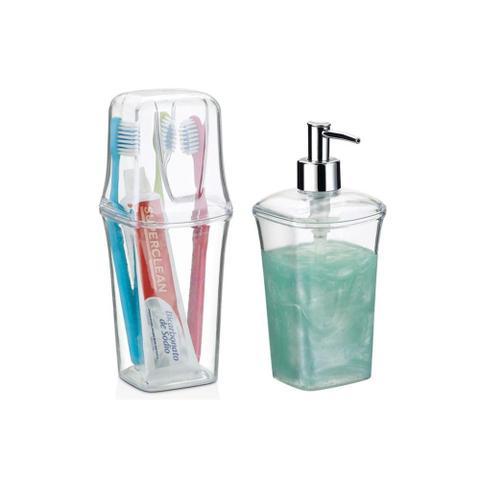 Imagem de Conjunto para Banheiro 2 Peças Transparente