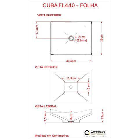 Imagem de Conjunto para Banheiro Gabinete com Cuba F44 e Prateleira 605W Metrópole Compace Nogal