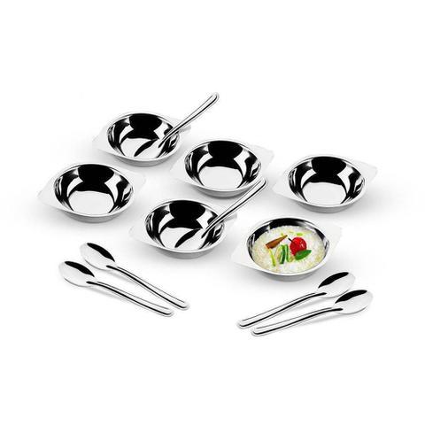 Imagem de Conjunto para servir sobremesa 12 peças aço inox 5122