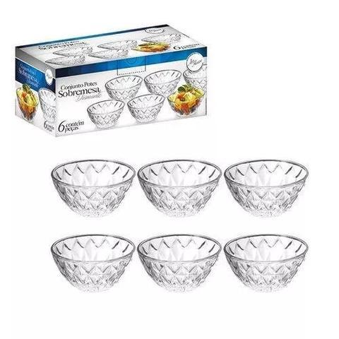 Imagem de Conjunto Para Sobremesa 6 Peças De Vidro 11 Cm Diamante