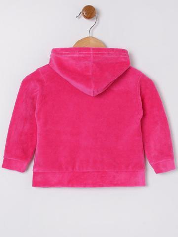 Imagem de Conjunto Plush com Capuz Infantil Para Bebê Menina  - Rosa Pink