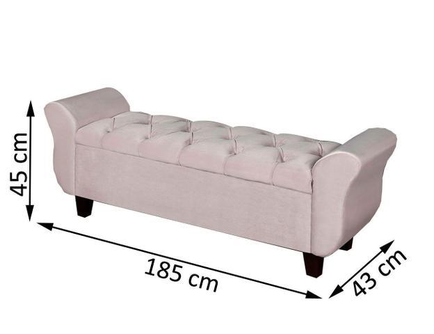 Imagem de Conjunto Quarto Cabeceira Estofada Recamier Bau Lisboa 195cm