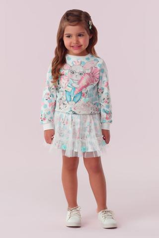 Imagem de Conjunto saia e blusa petit cherie intantil candy rabbit 096