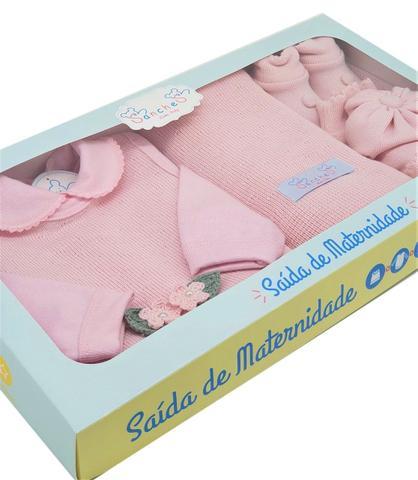 Imagem de Conjunto Saida Maternidade Completa Recem Nascido 7 Peças