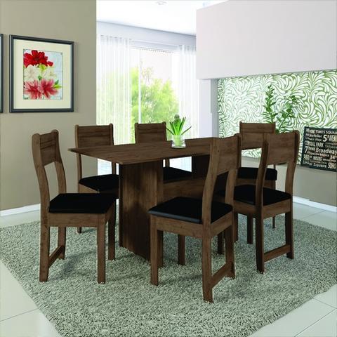 Imagem de Conjunto Sala De Jantar 6 Cadeiras Talita Indekes
