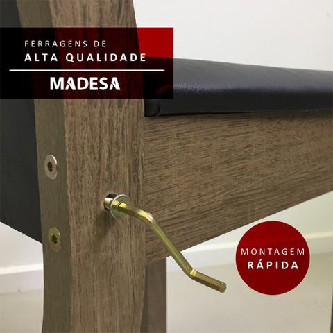 Imagem de Conjunto Sala de Jantar Amanda Madesa  Mesa Tampo de Madeira com 6 Cadeiras