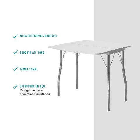 Imagem de Conjunto Sala de Jantar Carraro Palermo mesa e 2 banquetas