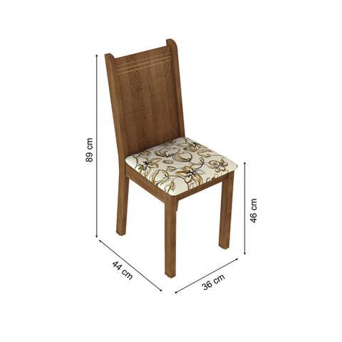 Imagem de Conjunto Sala de Jantar Lexy Madesa Mesa Tampo de Madeira com 4 Cadeiras