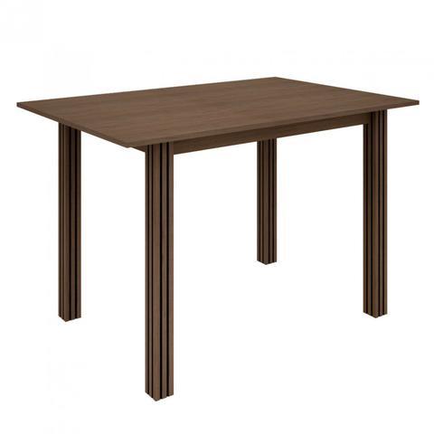 Imagem de Conjunto Sala de Jantar Mesa 4 Cadeiras Dallas Indekes Nogal/Preto