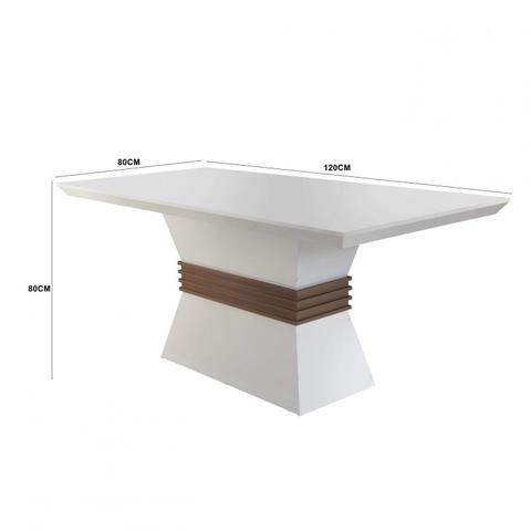 Imagem de Conjunto Sala de Jantar Mesa 4 Cadeiras Luísa Siena Móveis Animalle Chocolate/Off White/Café