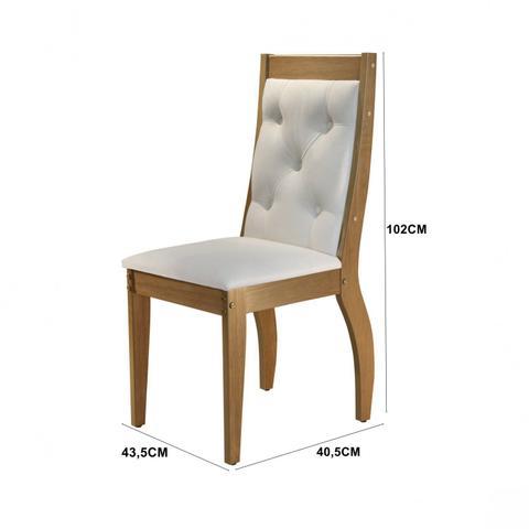 Imagem de Conjunto Sala de Jantar Mesa 6 Cadeiras Cristiane Espresso Móveis Veludo Creme/Off White/Imbuia