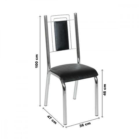 Imagem de Conjunto Sala de Jantar Mesa BK TOK e 6 Cadeiras Bela Ciplafe