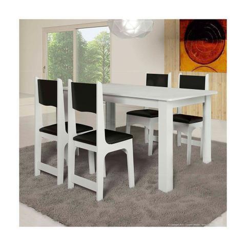 Imagem de Conjunto Sala de Jantar Mesa e 4 Cadeiras Nicoli Soneto Móveis