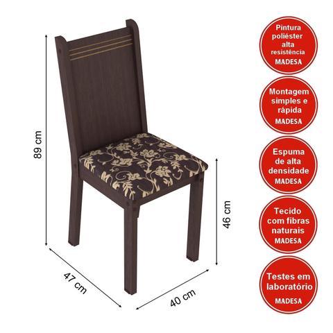 Imagem de Conjunto Sala de Jantar Mesa e 6 Cadeiras Maris Madesa Tabaco/ Cacau
