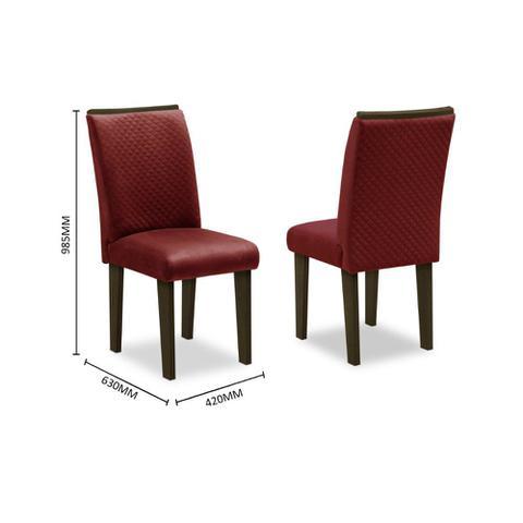 Imagem de Conjunto Sala de Jantar Mesa e 6 Cadeiras Napoli Dobuê