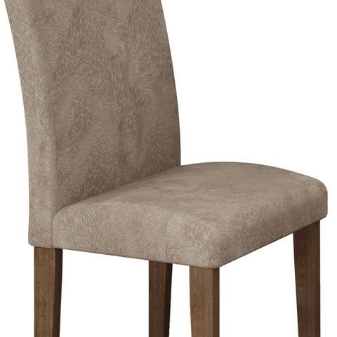 Imagem de Conjunto Sala de Jantar Mesa Tampo de Vidro e 4 Cadeiras Classic Cel Móveis Chocolate/Pena 84