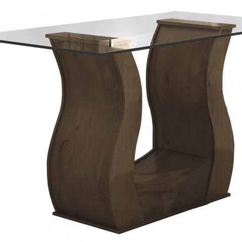 0c3e667a6 Imagem de Conjunto Sala de Jantar Mesa Tampo em Vidro 6 Cadeiras Dafne  Móveis Lopas Imbuia