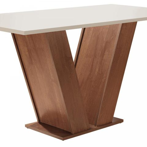 Imagem de Conjunto Sala de Jantar Mesa Tampo MDF 4 Cadeiras Espanha Espresso Móveis Chocolate