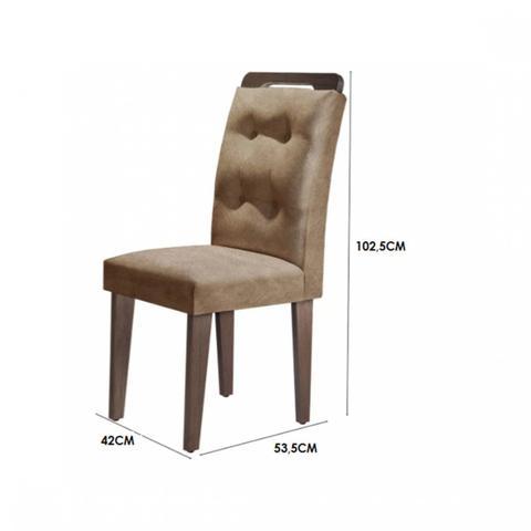 Imagem de Conjunto Sala de Jantar Mesa Tampo MDF 6 Cadeiras Clarice Espresso Móveis Animalle Chocolate/Off White/Café