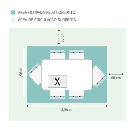 Imagem de Conjunto Sala de Jantar Mesa Tampo Vidro/MDF Preto Luna 6 Cadeiras Athenas Rufato Castor/Animalle Chocolate