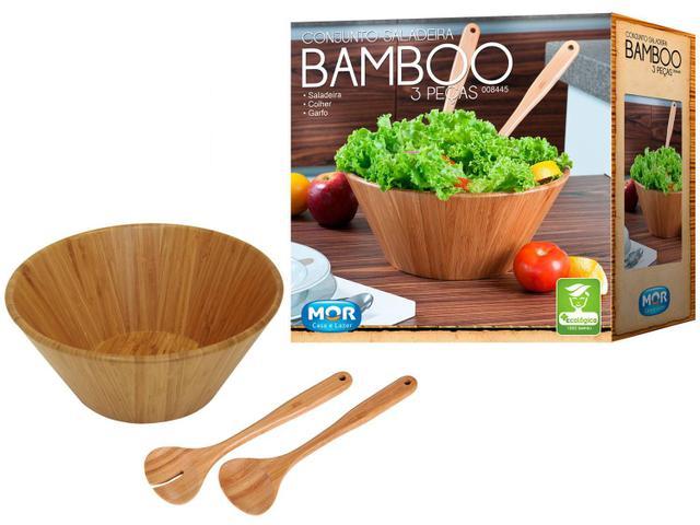 Imagem de Conjunto Saladeira Bamboo 3 Peças