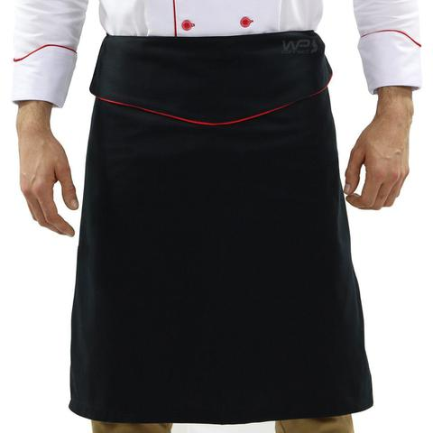 Imagem de Conjunto Uniforme Cozinheiro Dólmã Chapéu e Avental de Chef