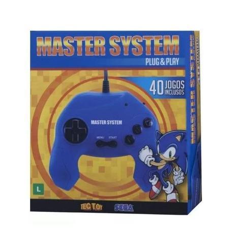 Imagem de Console Master System Plug  Play Com 40 Jogos Tectoy