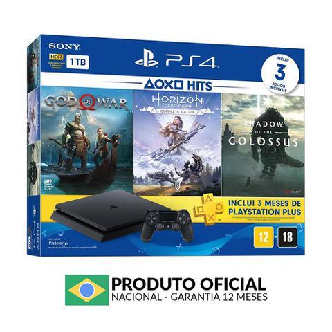 Imagem de Console PlayStation 4 Slim 1TB + 3 Jogos Exclusivos + 3 Meses PlayStation Plus - Sony