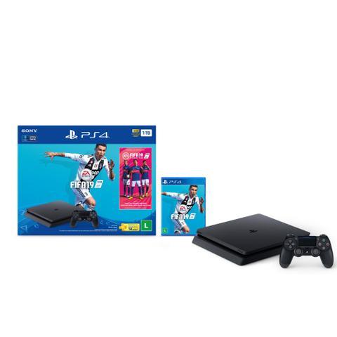Imagem de Console Playstation 4 Slim 1TB Bundle Fifa 19 + Controle Dualshock 4 - PS4