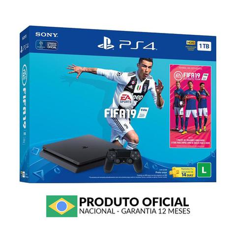 Imagem de Console PlayStation 4 Slim 1TB + FIFA 19 - Sony