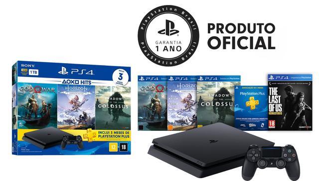 Imagem de Console Playstation 4 Slim 1TB Hits Bundle + 4 jogos - Sony