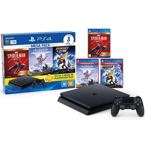Imagem de Console Playstation 4 Slim CUH-2241B 1TB Com 3 Jogos 3 Meses da PS Plus Preto