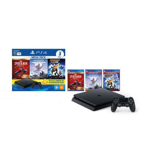 Imagem de Console Playstation PS4 Sony Modelo Slim 1TB Bundle Hits 15