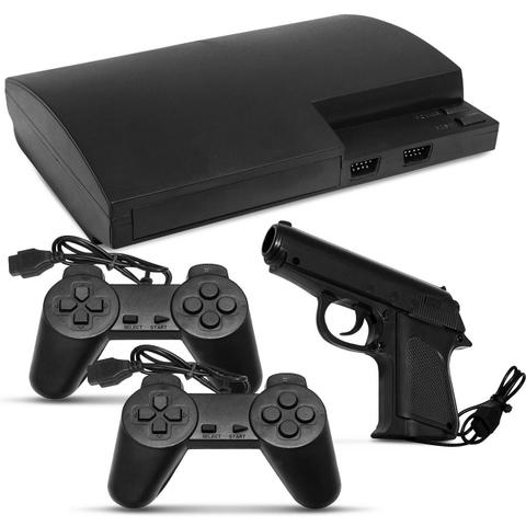 Imagem de Console Vídeo Game Polystation 3 NES 999.999 Jogos Retrô Com Controle e Joystick de Pistola Bivolt