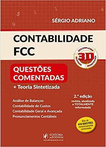 Imagem de Contabilidade FCC 3D - 2ª Edição (2020) - Juspodivm