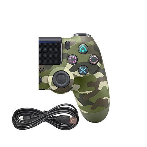 Imagem de Controle Compatível com Ps4 Dualshock Play 4 Wireless Sem Fio Camuflado Verde Militar