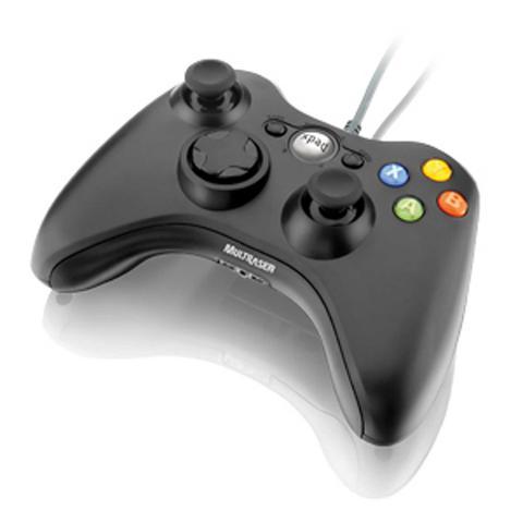 Imagem de Controle Game Multilaser Dual Shock Preto Xpad Pc PARA xbox360
