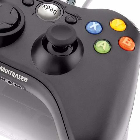 Imagem de Controle Game Multilaser Dual Shock Preto Xpad Pc/Xbox360 - JS063